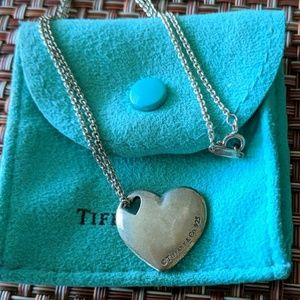 Tiffany & Co. puffed heart necklace